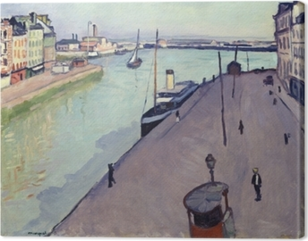 Albert Marquet - View of Le Havre harbour (Notre Dame wharf) Canvas Print