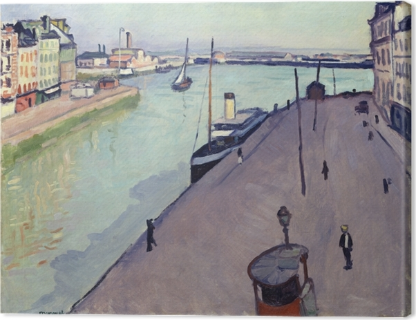 Albert Marquet - View of Le Havre harbour (Notre Dame wharf) Canvas Print - Reproductions