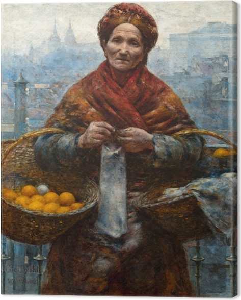Aleksander Gierymski - Jewess with Oranges Canvas Print - Reproductions