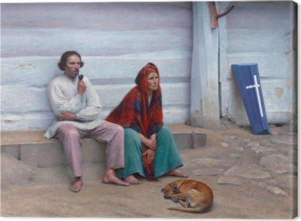 Aleksander Gierymski - Peasant Coffin Canvas Print - Reproductions
