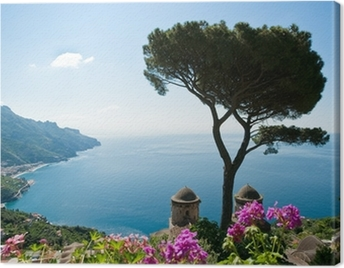 Amalfi coast view Canvas Print