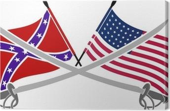american civil war stencil seventh variat Canvas Print