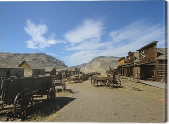 american ghost town wild western style Canvas Print