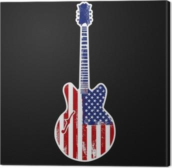 american rock n roll Canvas Print