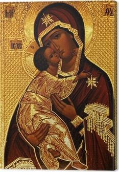 An orthodox icon of Mary, Vladimirskaya Canvas Print
