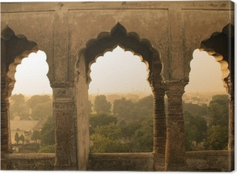 ancient construction, india Canvas Print