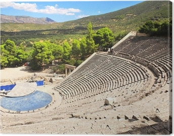 Ancient Epidaurus theater, Peloponnese, Greece Canvas Print