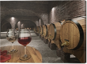 Ancient wine cellar Canvas Print