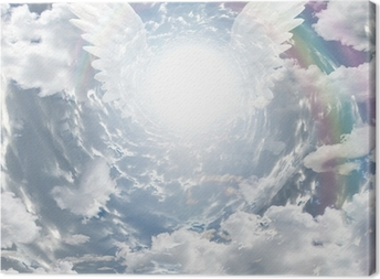 Angelic presence in tunnel of light Canvas Print