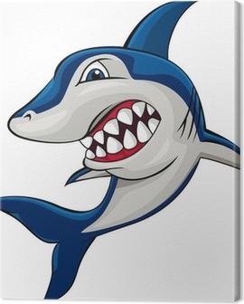 Angry shark Canvas Print