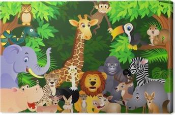 animal cartoon Canvas Print