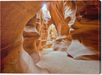 Antelope Canyon view with light rays Canvas Print