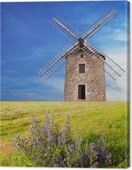antico mulino a vento Canvas Print
