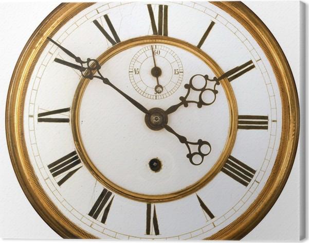 antique clock face canvas print pixers we live to change
