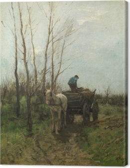 Anton Mauve - Gathering Wood Canvas Print