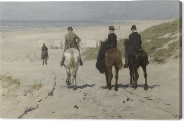 Anton Mauve - Morning Ride on the Beach Canvas Print - Reproductions