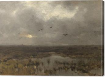 Anton Mauve - The Swamp Canvas Print