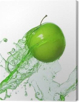 apple in stream Canvas Print