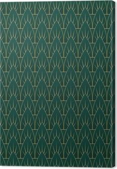 Art Deco Leaves Pattern Canvas Print