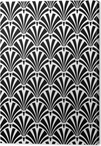 Art deco canvas print backgrounds