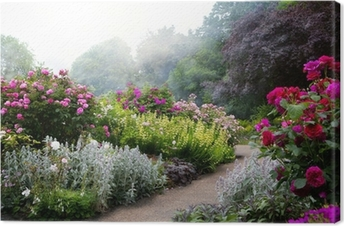 Art flowers in the morning in an English park Canvas Print