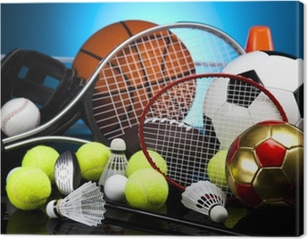 Assorted sports equipment Canvas Print