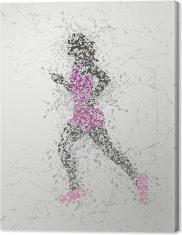 athlete design Canvas Print