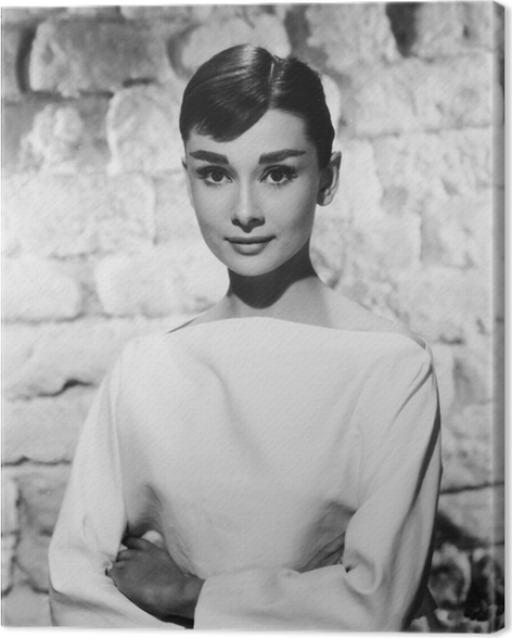 Audrey Hepburn Canvas Print • Pixers® • We live to change