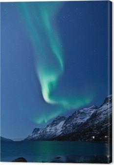 Aurora Borealis in Norway, reflected Canvas Print