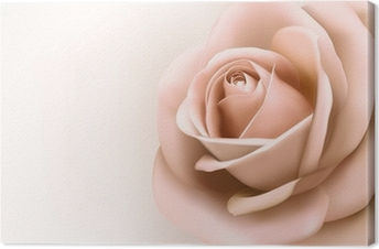 Background With Beautiful Pink Rose Vector Canvas Print Pixers