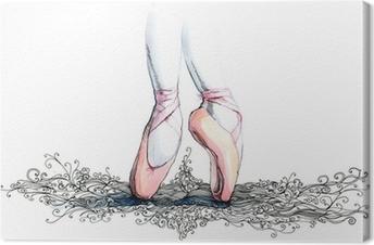 balet dancer (series C) Canvas Print