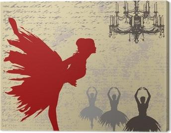 Ballerina Background Canvas Print