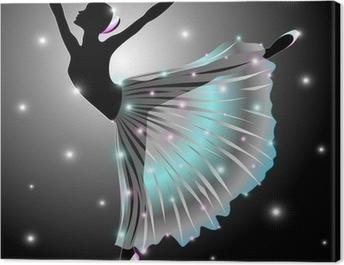 Ballerina Danza Classica-Classic Dance Star Dancer-Vector Canvas Print