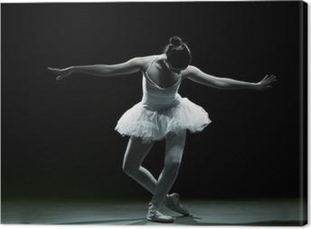 Ballet dancer-action Canvas Print