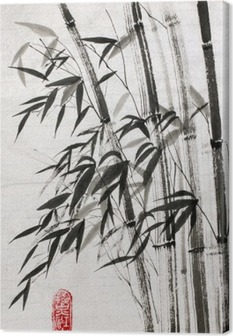 bamboo is a symbol of longevity and prosperity Canvas Print