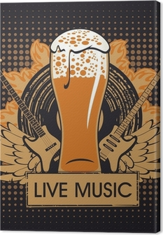 banner for the pub with live music Canvas Print