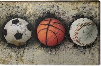 basketball, baseball and soccer Canvas Print