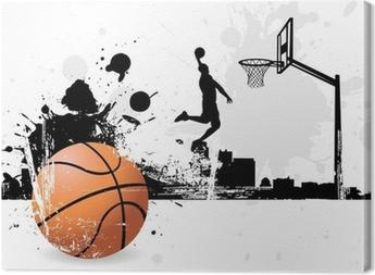 Basketball player Canvas Print