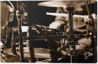 batteur sur scène Canvas Print