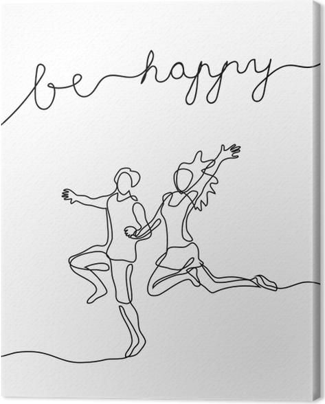 Be happy Canvas Print - Motivations