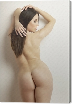 beautiful adult sensuality naked woman Canvas Print