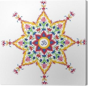 Beautiful Aum Design Canvas Print