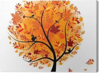 Beautiful autumn tree for your design Canvas Print