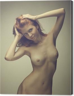 Beautiful girl posing naked Canvas Print
