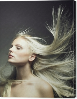 Beautiful woman with magnificent hair Canvas Print