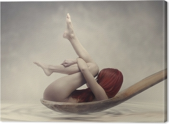 Beauty Bath Canvas Print