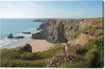 Bedruthan Steps Cornwall Uk Canvas Print