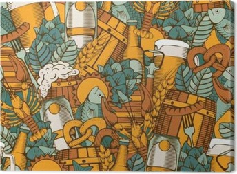 Beer seamless pattern Canvas Print