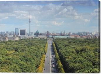 Berlin skyline with Tiergarten Park Canvas Print