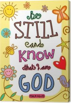 Bible Verse Art Canvas Print